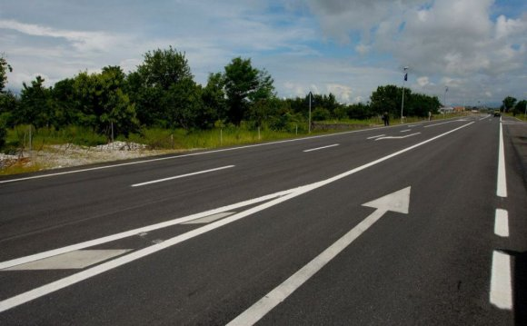 Asphalting of road
