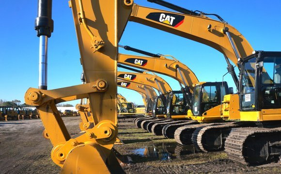Caterpillar excavators on