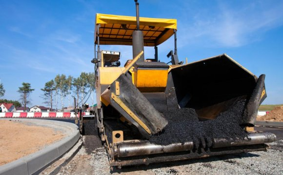 Asphalt plants produce the
