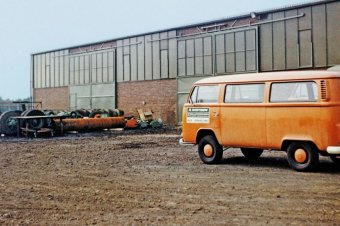 1968: Reinhard Wirtgen's very first workshop in Windhagen.