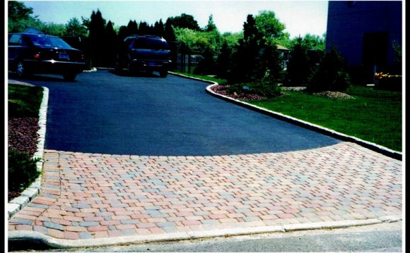 Asphalt and Pavers driveway