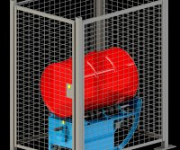 Enclosure with Safety Interlock to be used with transportable drum roller
