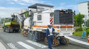 The W 200 Hi with hydraulically movable milling drum is selling specially well in Japan.