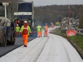 Road resurfacing process